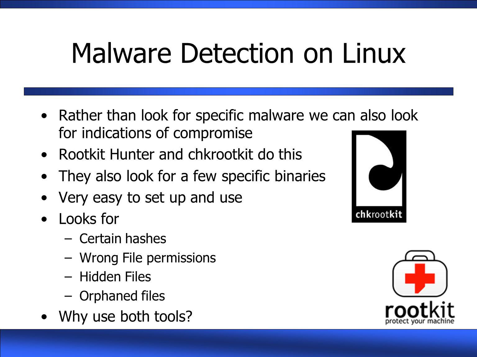 Malware Detection on Linux