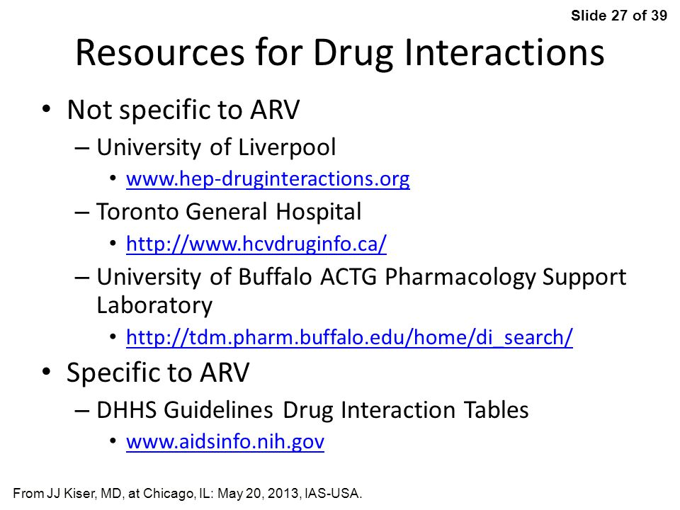 Resources for Drug Interactions