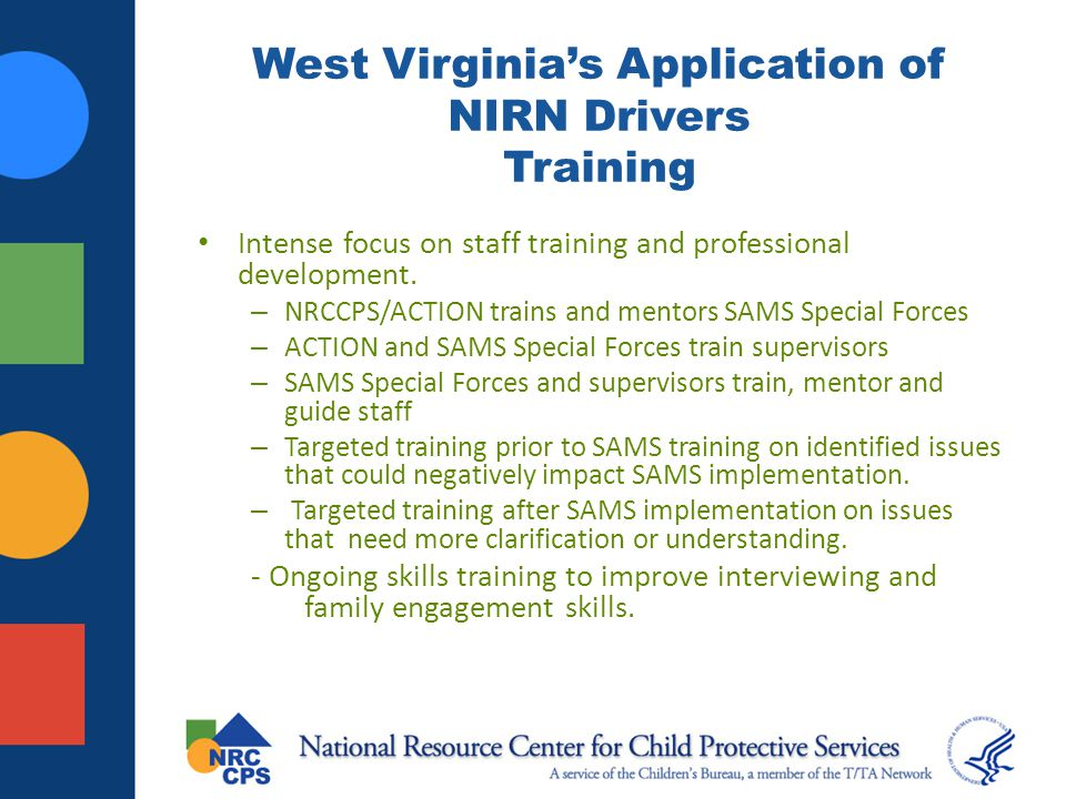 West Virginia's Application of NIRN Drivers Training
