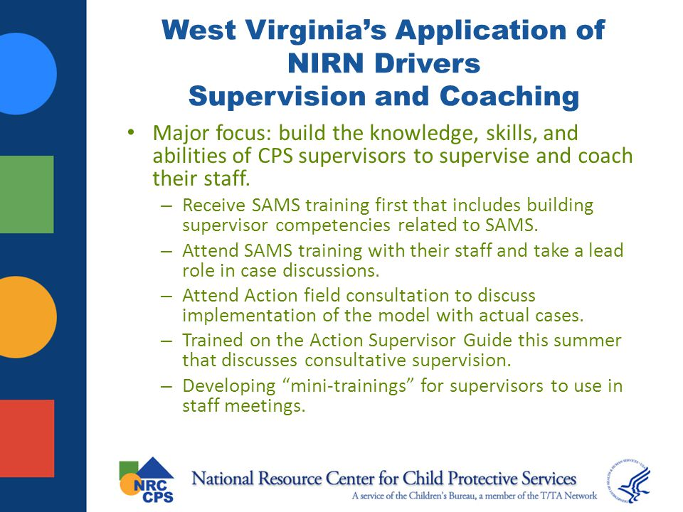 West Virginia's Application of NIRN Drivers Supervision and Coaching