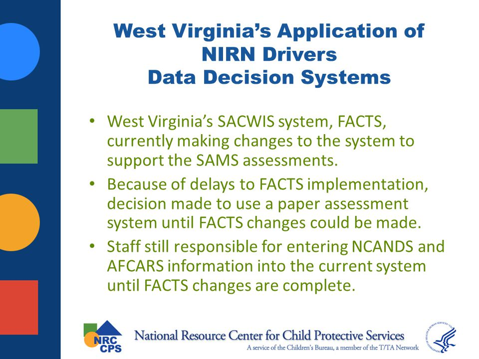 West Virginia's Application of NIRN Drivers Data Decision Systems