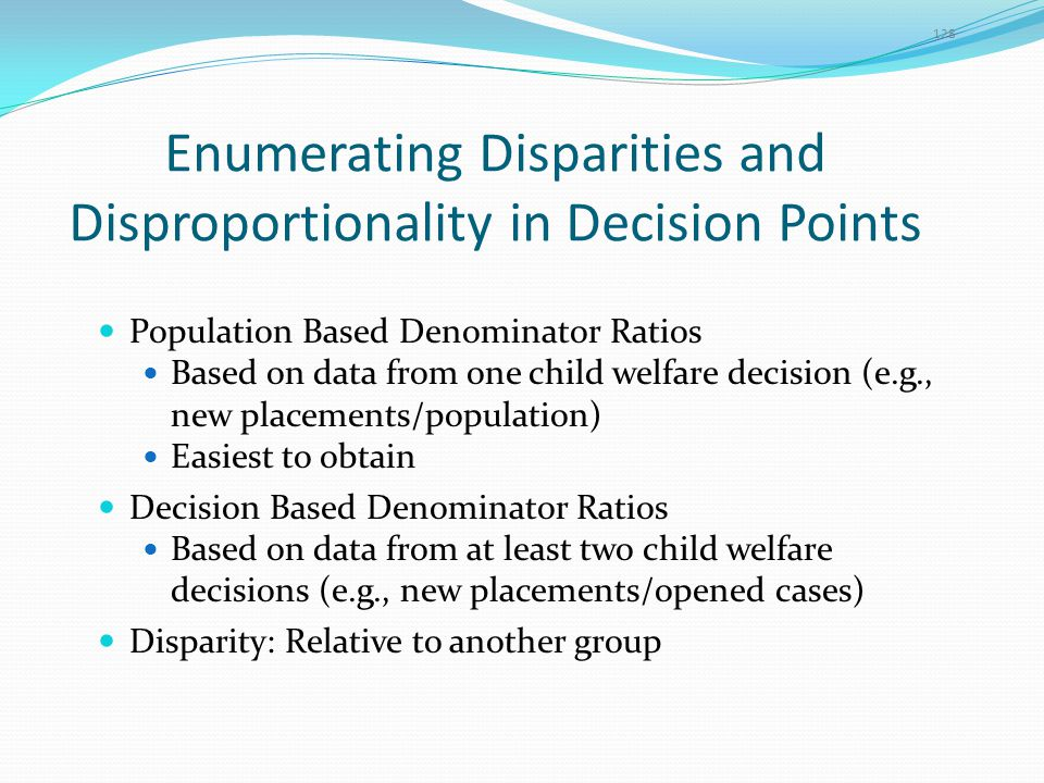 Enumerating Disparities and Disproportionality in Decision Points