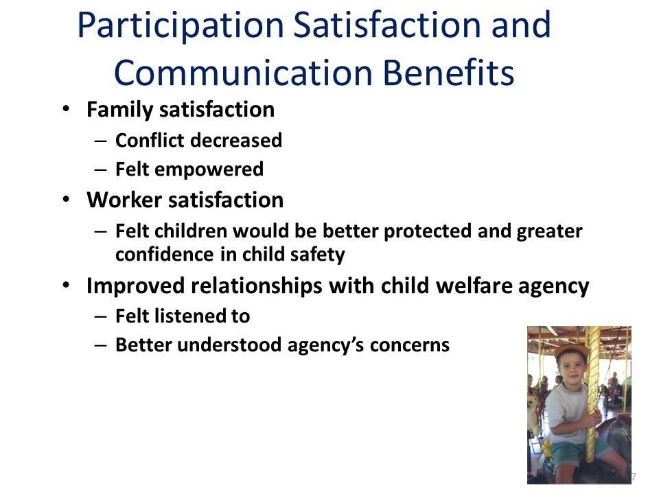 Participation Satisfaction and Communication Benefits