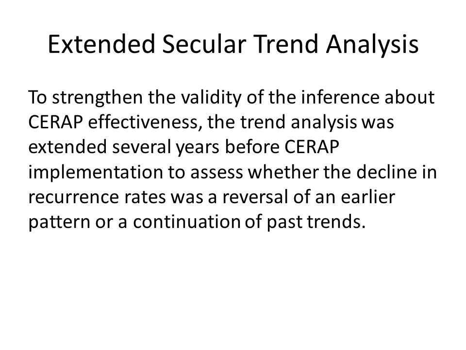 Extended Secular Trend Analysis
