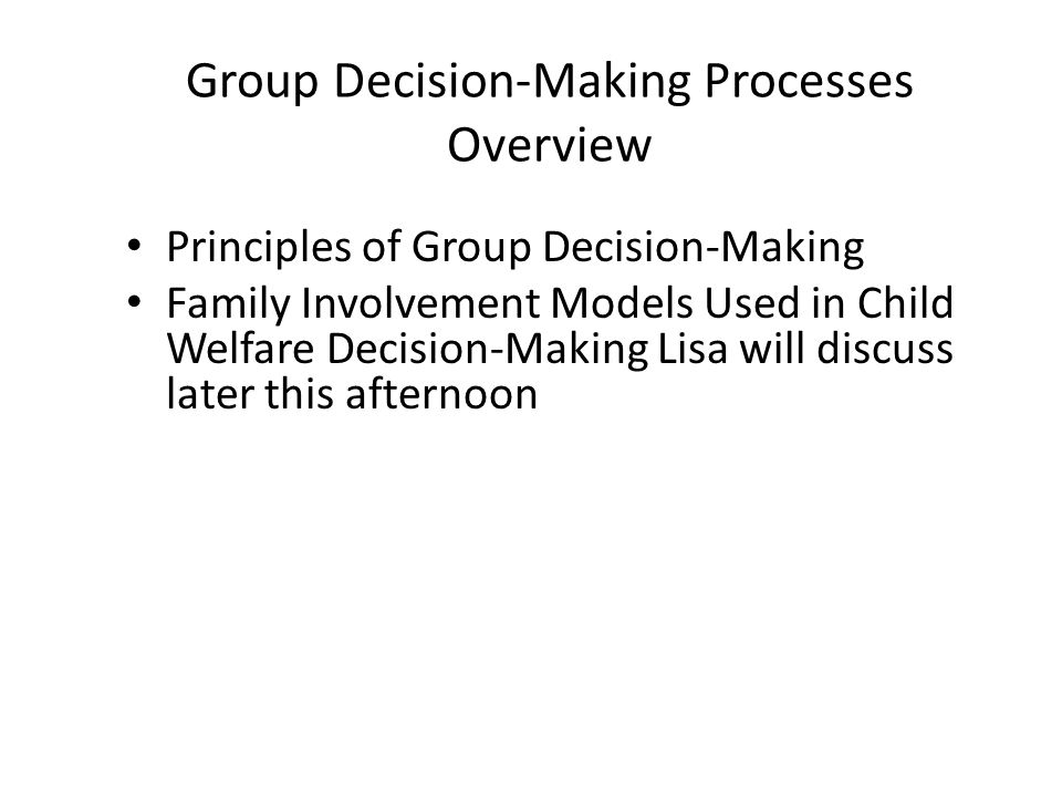 Group Decision-Making Processes Overview