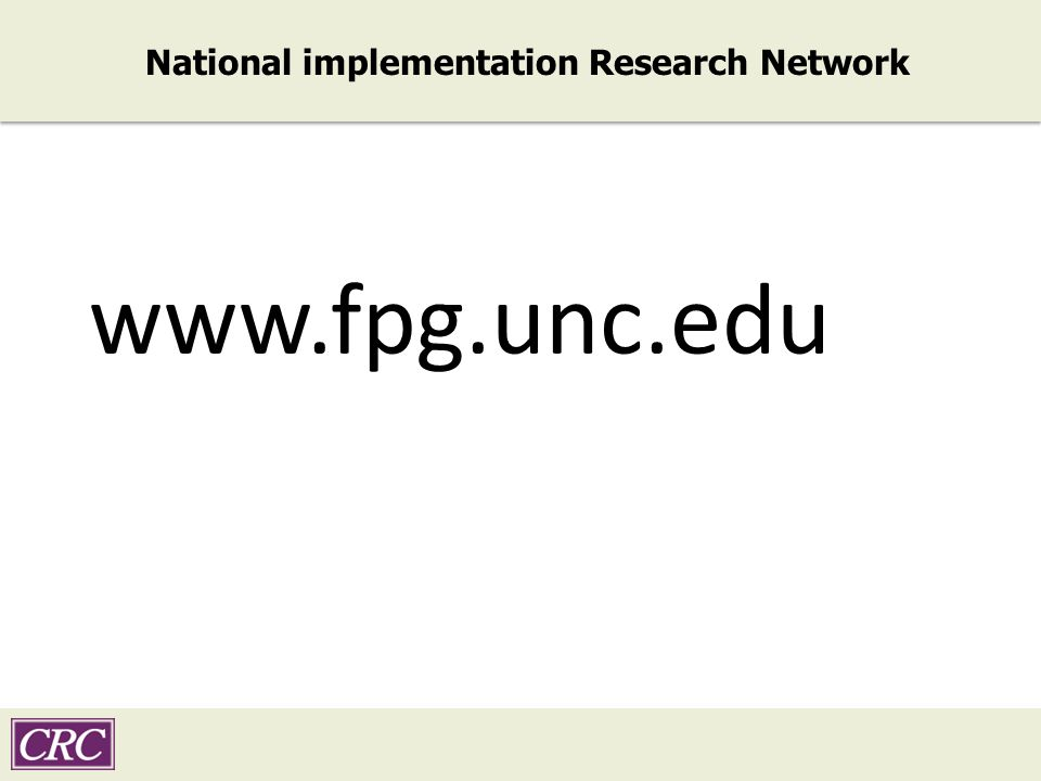 National implementation Research Network