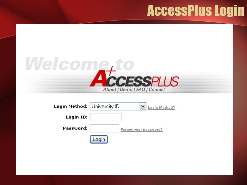AccessPlus Login