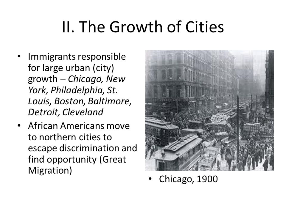 II. The Growth of Cities