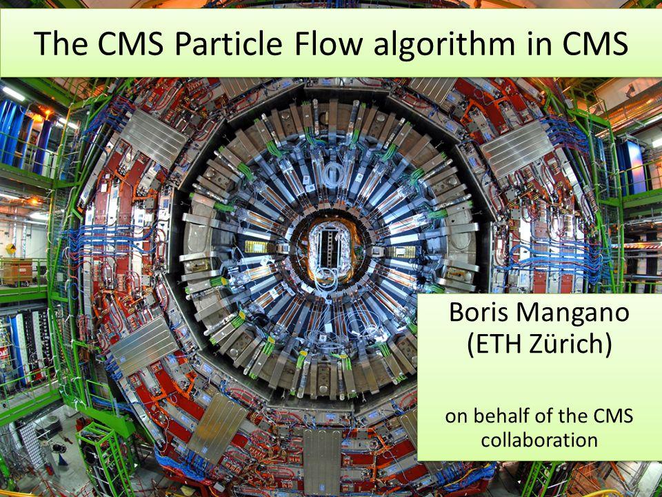 The CMS Particle Flow algorithm in CMS
