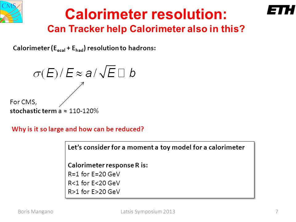 Calorimeter resolution: Can Tracker help Calorimeter also in this