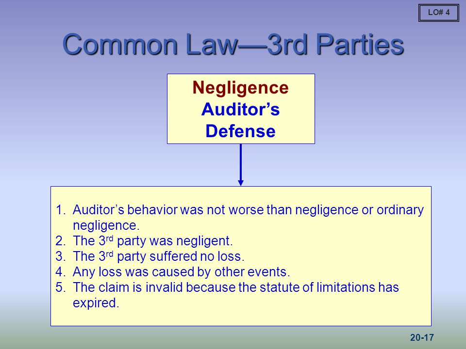 Negligence Auditor's Defense