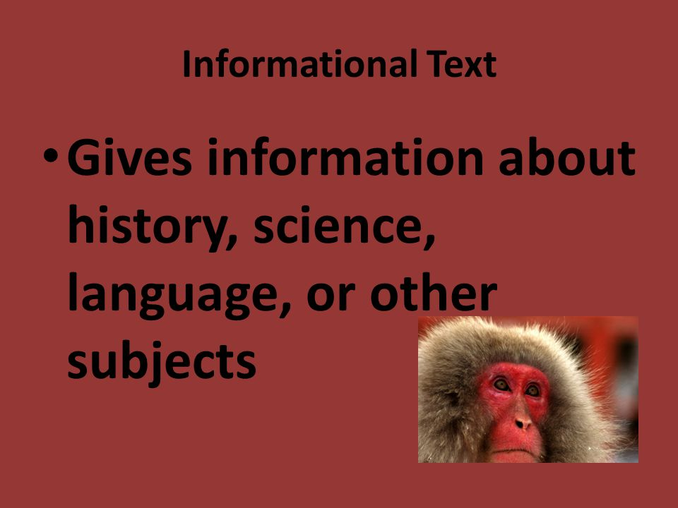 Gives information about history, science, language, or other subjects