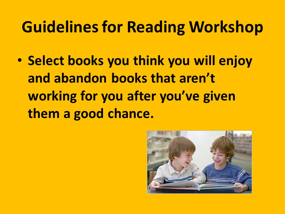 Guidelines for Reading Workshop