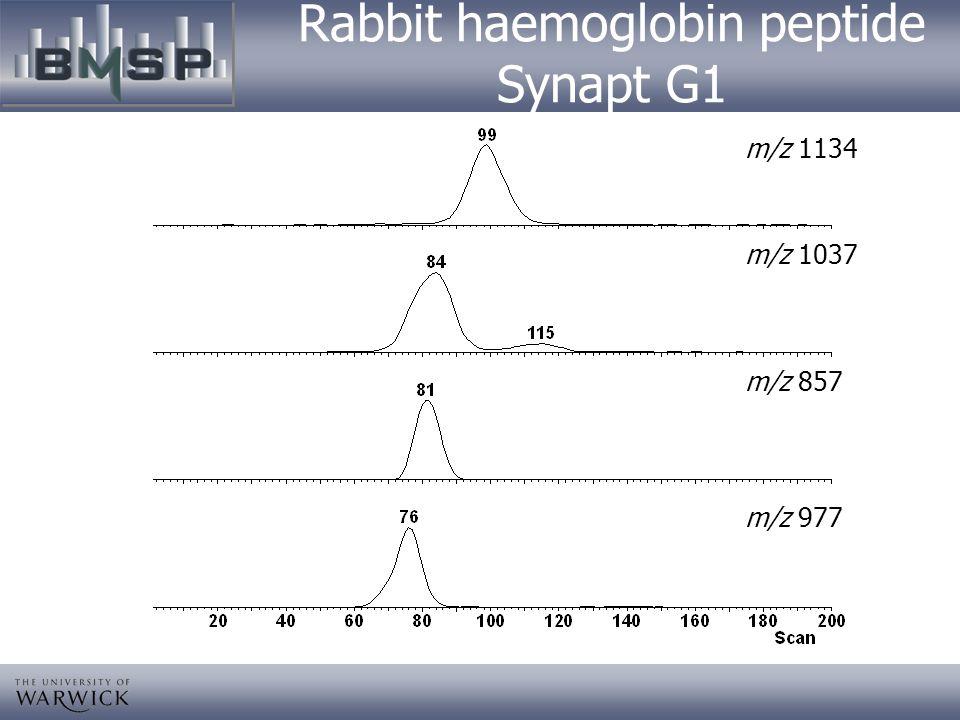 Rabbit haemoglobin peptide Synapt G1