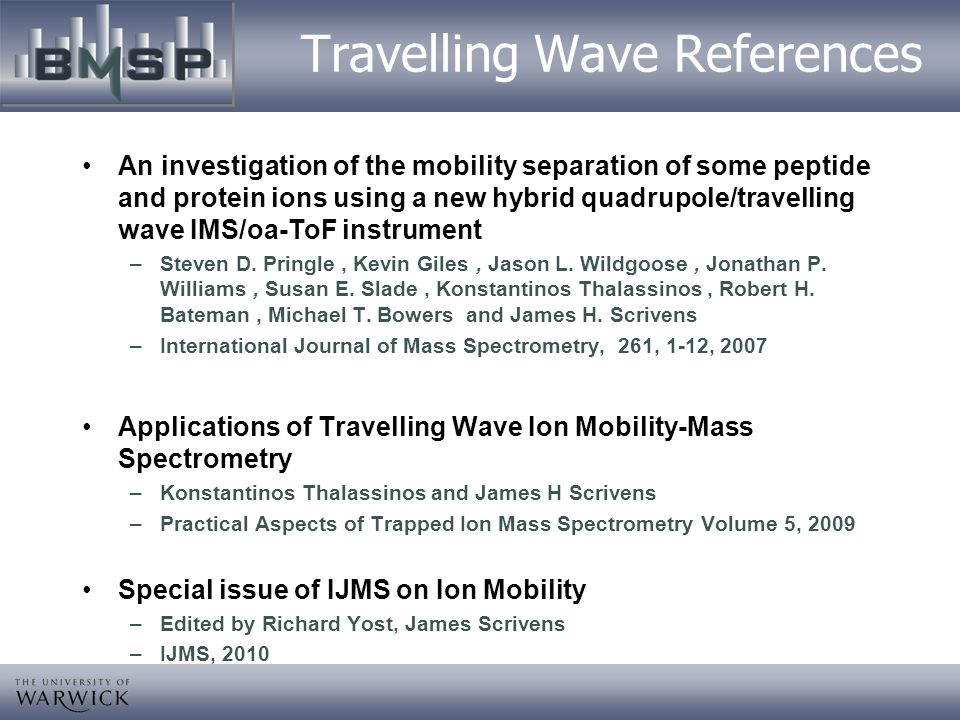 Travelling Wave References