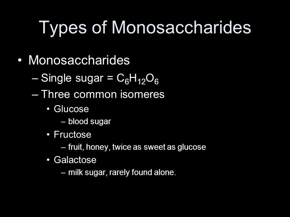 Types of Monosaccharides