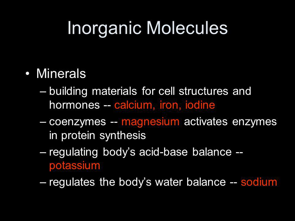 Inorganic Molecules Minerals