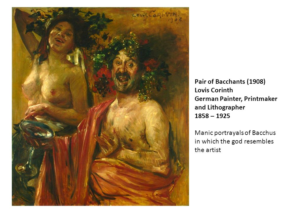 Als of Pair of Bacchants (1908) Lovis Corinth