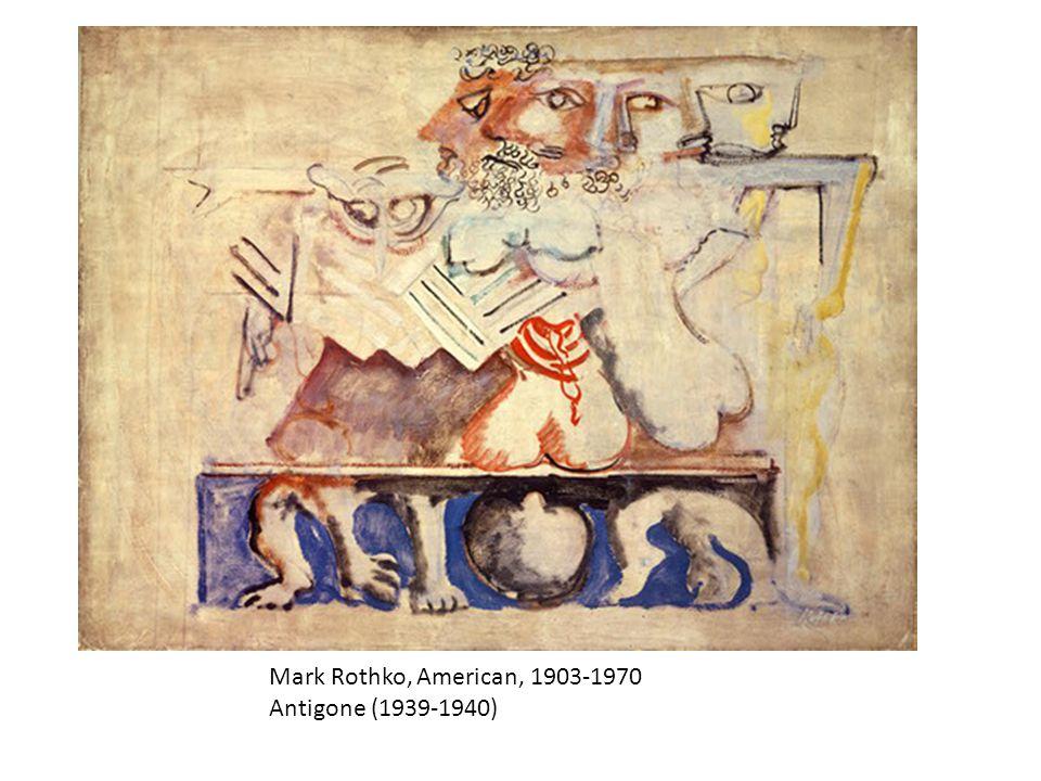 Mark Rothko, American, 1903-1970 Antigone (1939-1940)