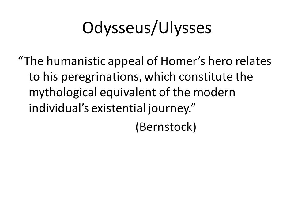 Odysseus/Ulysses
