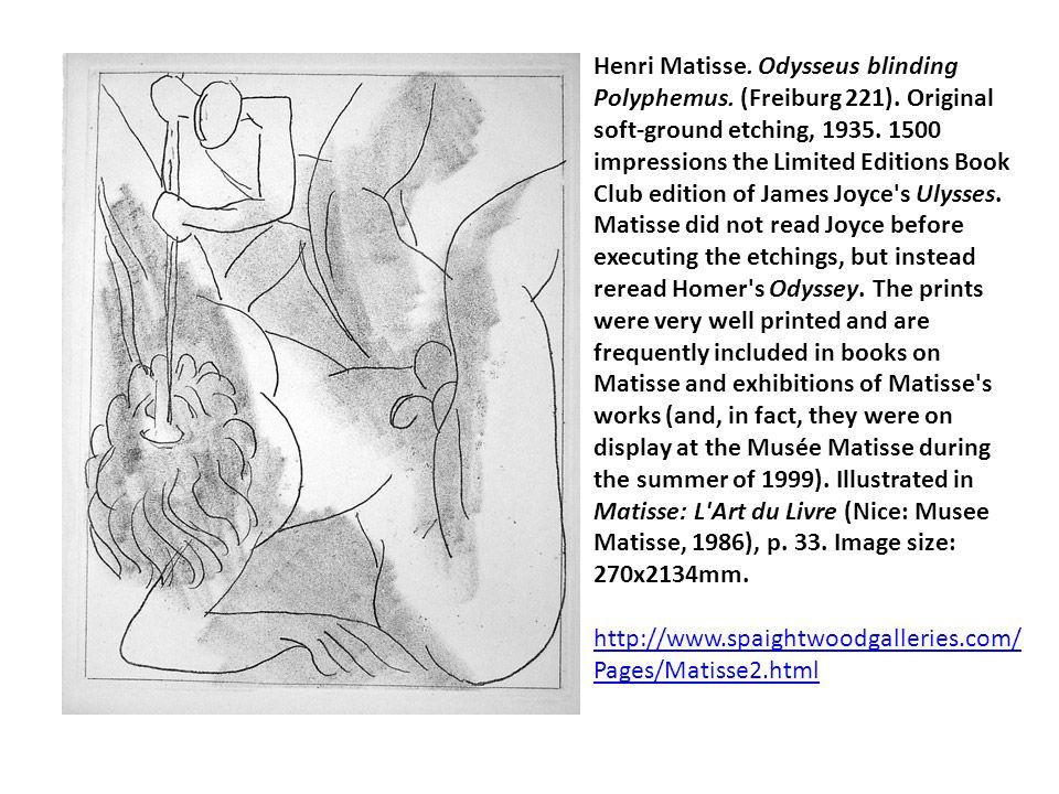 Henri Matisse. Odysseus blinding Polyphemus. (Freiburg 221)