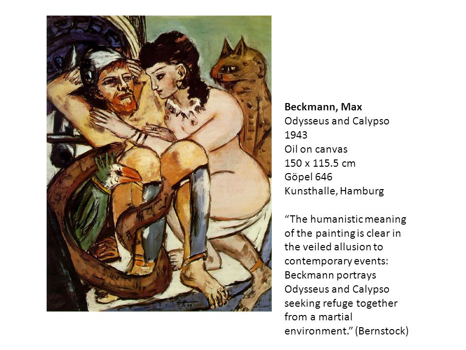 Beckmann, Max Odysseus and Calypso 1943 Oil on canvas 150 x 115