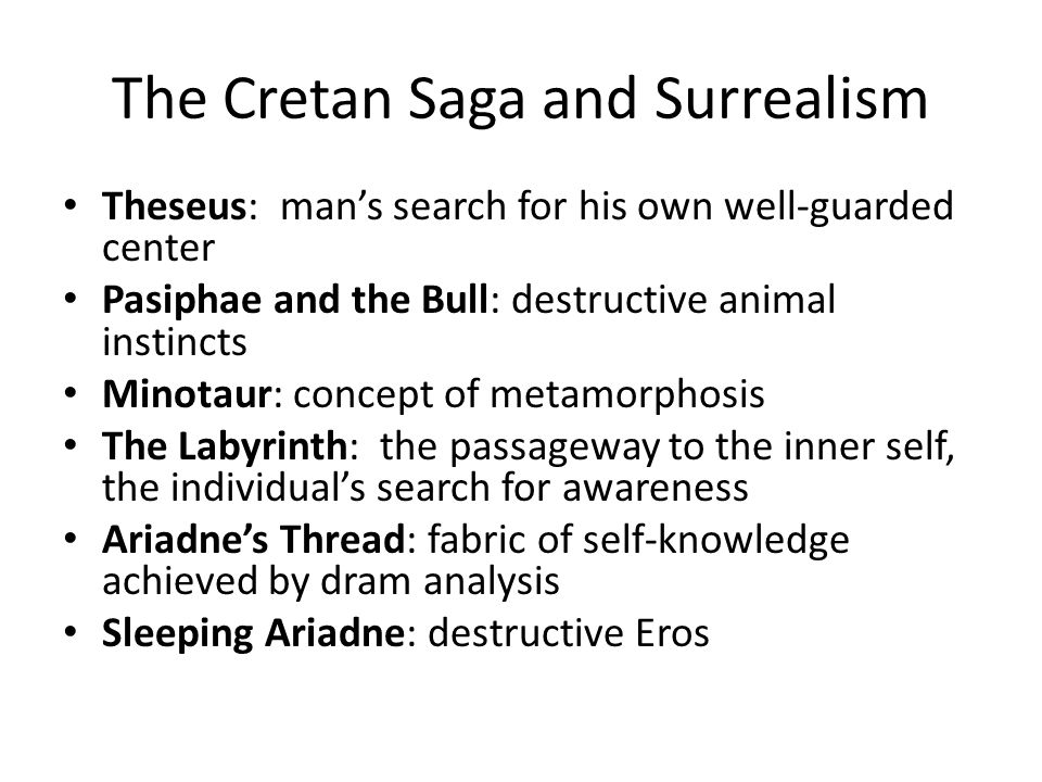 The Cretan Saga and Surrealism