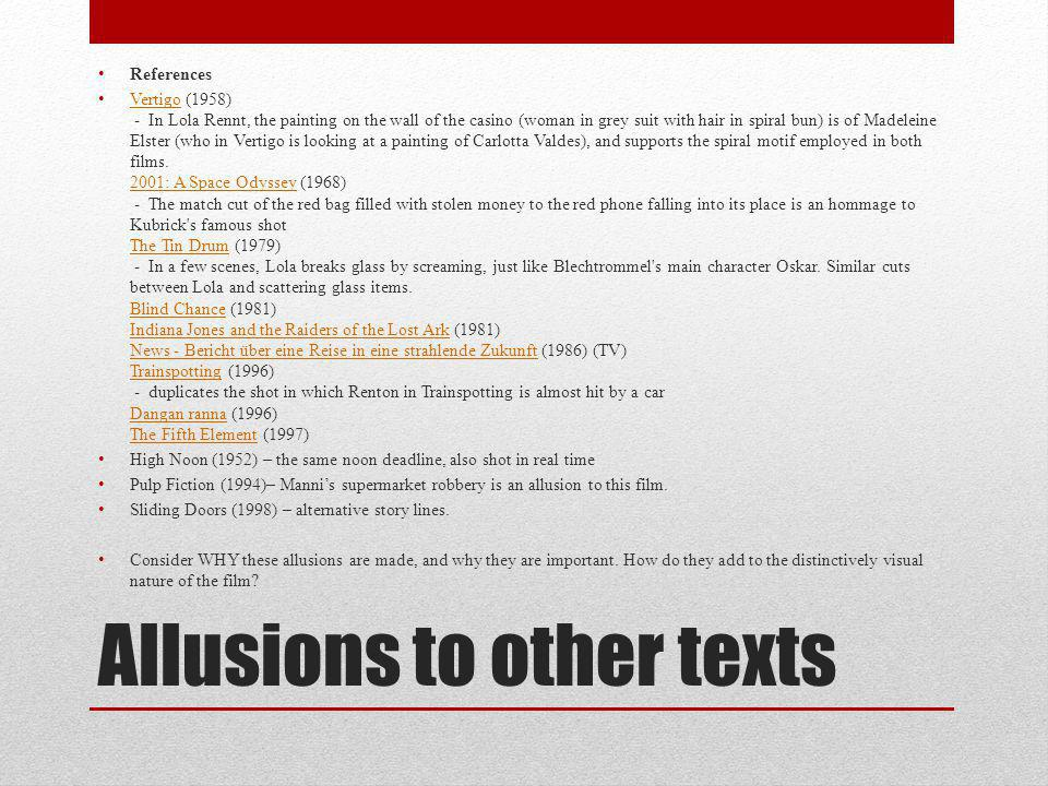 Allusions to other texts