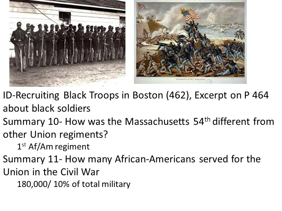 ID-Recruiting Black Troops in Boston (462), Excerpt on P 464 about black soldiers
