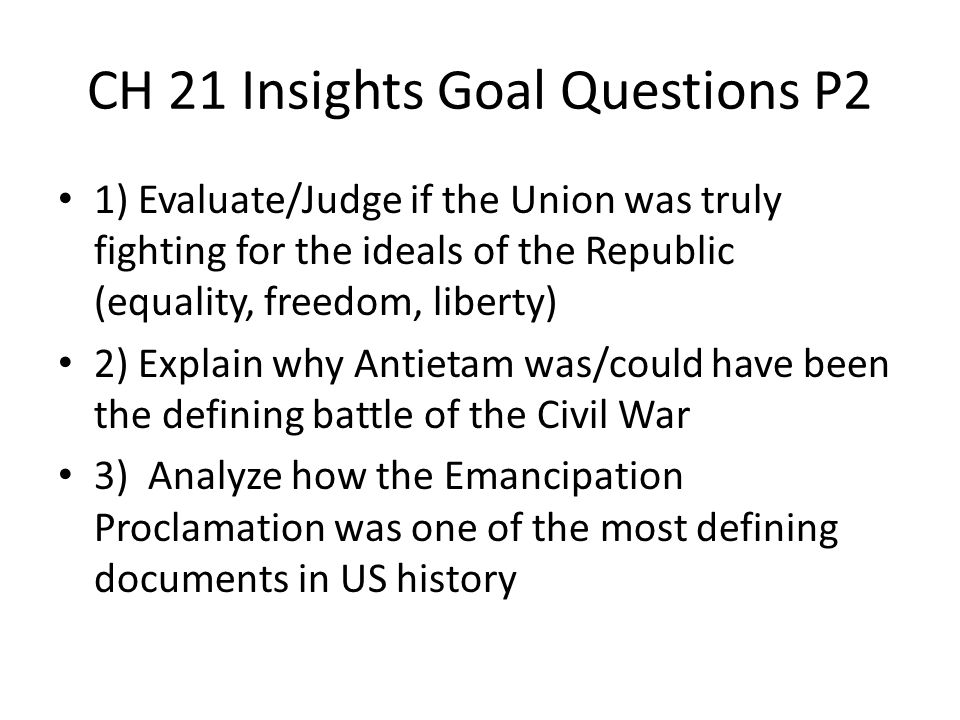 CH 21 Insights Goal Questions P2