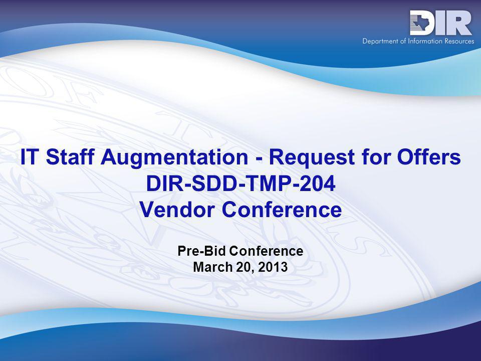 Pre-Bid Conference March 20, 2013