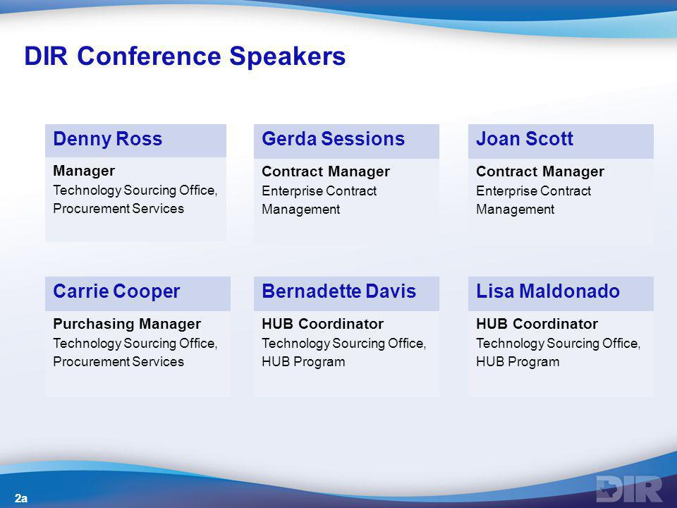 DIR Conference Speakers