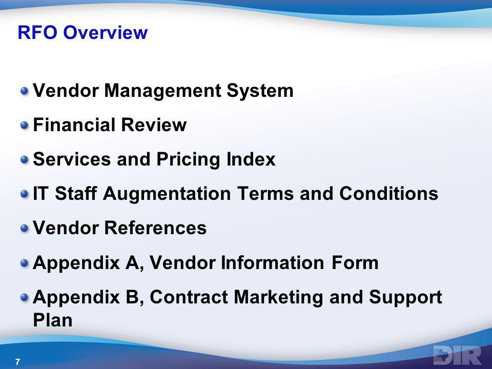 Vendor Management System Financial Review Services and Pricing Index