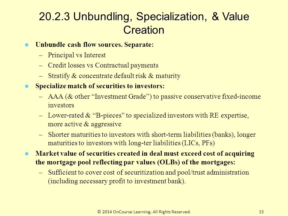 20.2.3 Unbundling, Specialization, & Value Creation