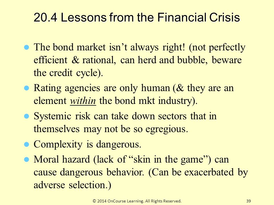 20.4 Lessons from the Financial Crisis
