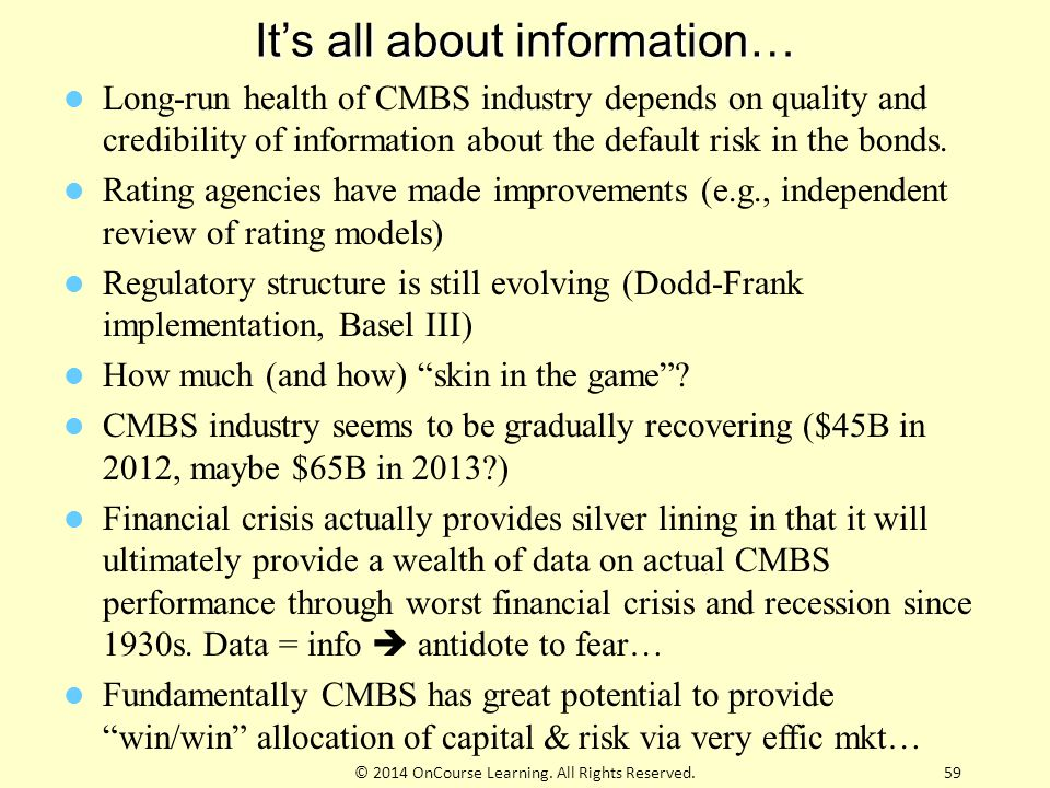 It's all about information…