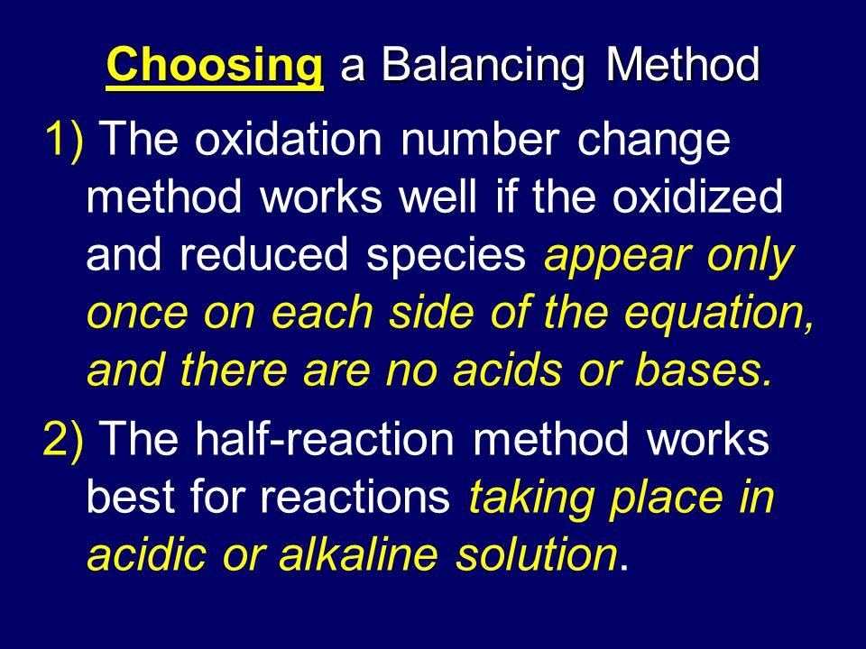 Choosing a Balancing Method