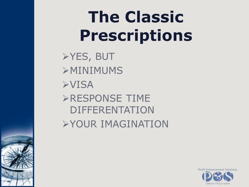 The Classic Prescriptions