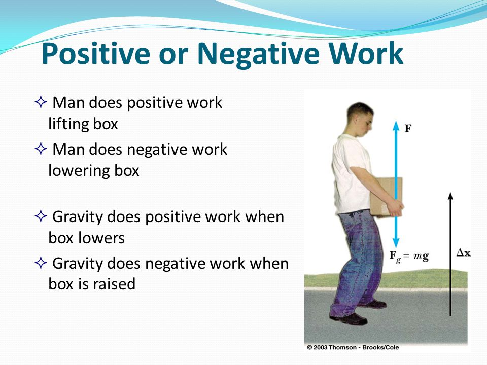 Positive or Negative Work