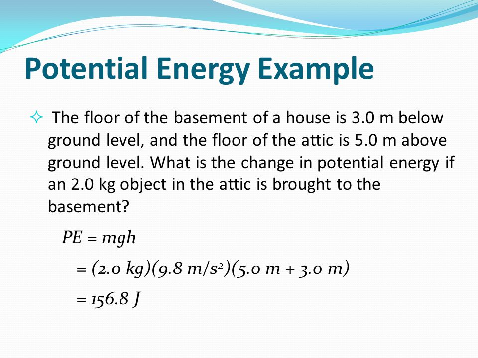 Potential Energy Example