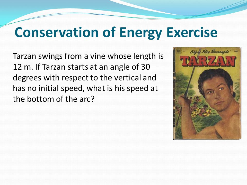 Conservation of Energy Exercise