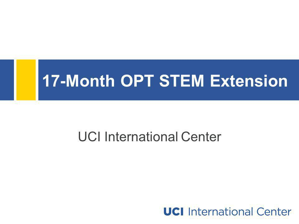 17-Month OPT STEM Extension