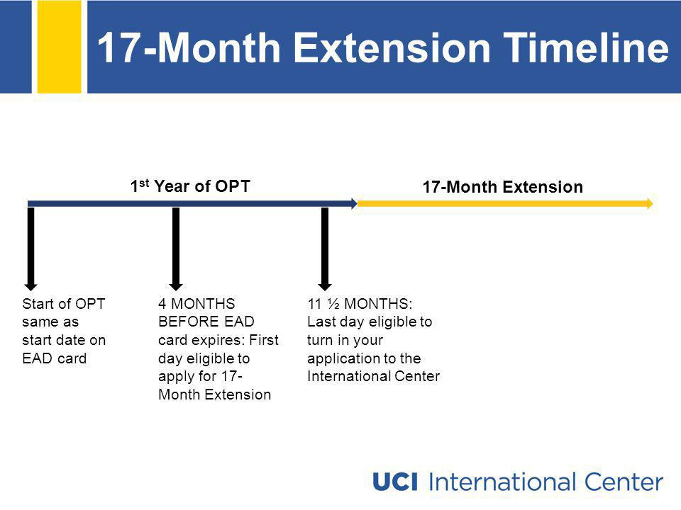 17-Month Extension Timeline