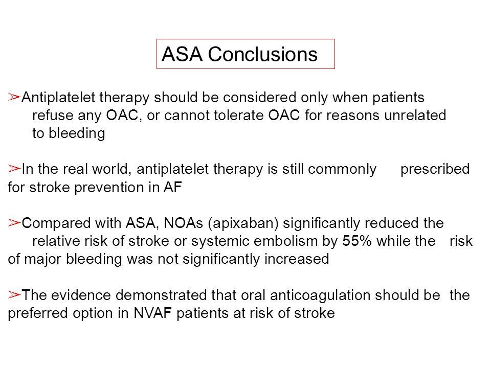 ASA Conclusions