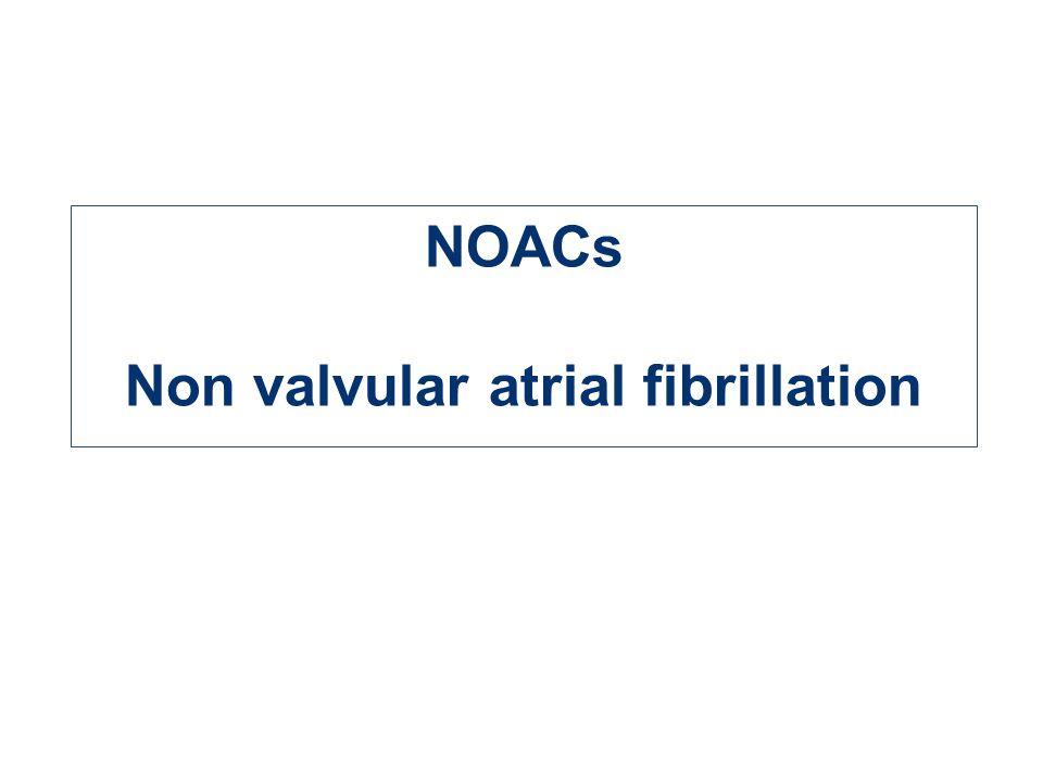 Non valvular atrial fibrillation