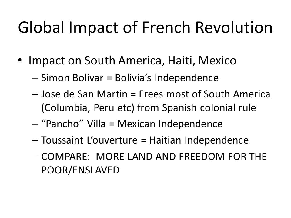 Global Impact of French Revolution