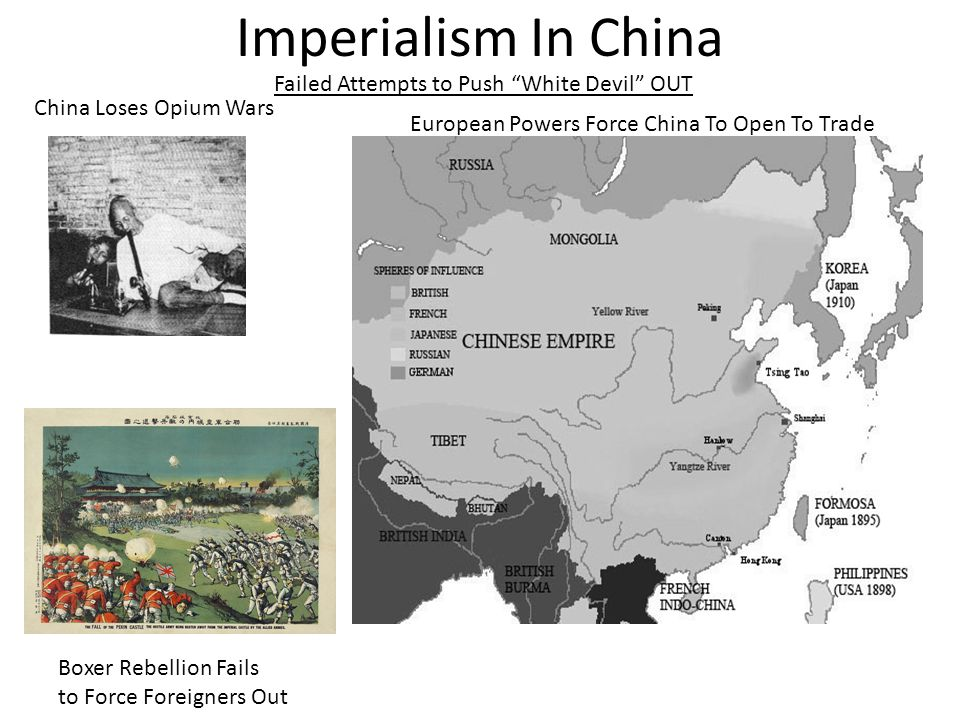 Imperialism In China Failed Attempts to Push White Devil OUT