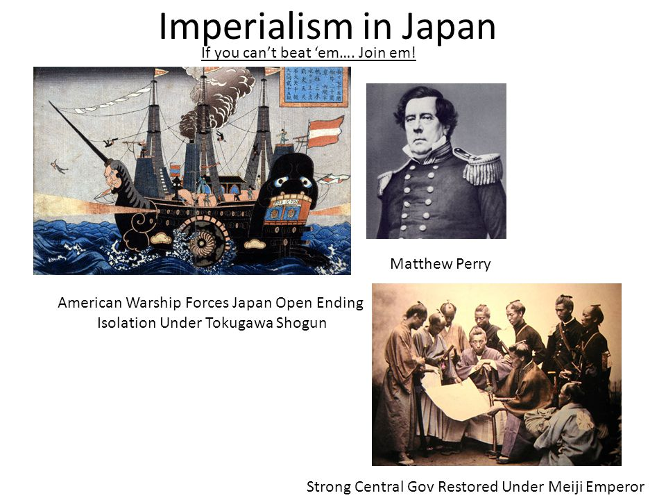 Imperialism in Japan If you can't beat 'em…. Join em! Matthew Perry
