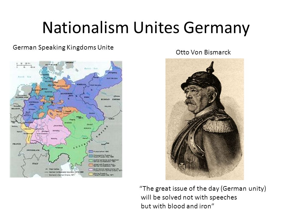 Nationalism Unites Germany